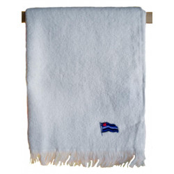 Leather Flag Towel/Handtuch White 40x66 cm / 16x26 inch (T5250)