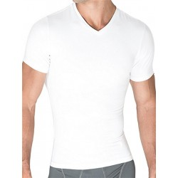 Rounderbum Compression T-Shirt Cotton White (T4849)