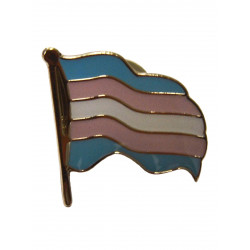 Pin Waving Trans Flag (T5226)