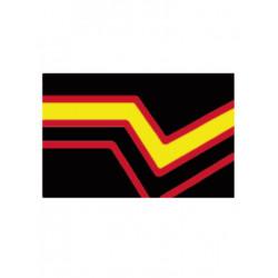 Rubber Pride Flag Aufkleber / Sticker 5.0 x 7,6 cm (T5203)