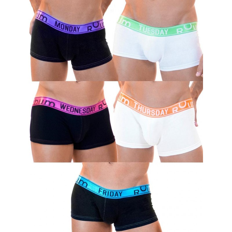 Rounderbum Lift My Day 5-Pack Underwear Multicolor (T5369)