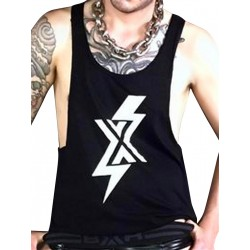 BoXer X Ray Open Vest Tank Top Black (T5437)