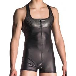 Manstore Zipped Body M700 Underwear Black (T5518)
