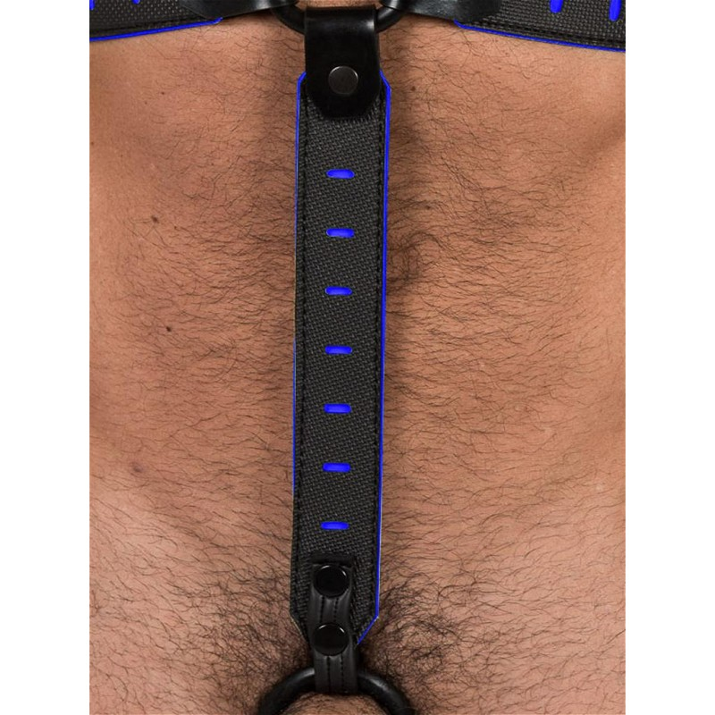 665 Leather NeoFlex Down Strap Neoprene Harness Extension Regular Black/Blue (T4978)