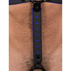 665 Leather NeoFlex Down Strap Neoprene Harness Extension Long Black/Blue (T4979)