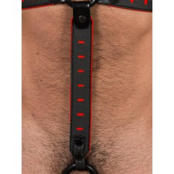 665 Leather NeoFlex Down Strap Neoprene Harness Extension Regular Black/Red